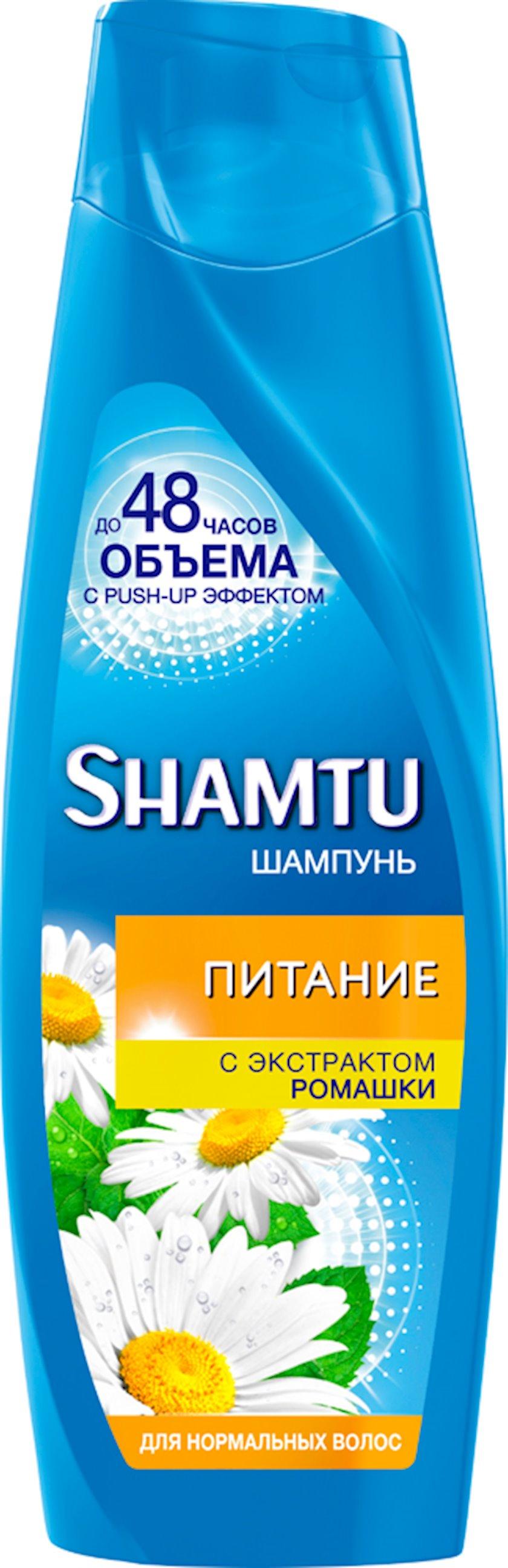 Şampun 100% normal saçlar üçün çobanyastığı ekstraktı ilə həcm Shamtu 360 ml
