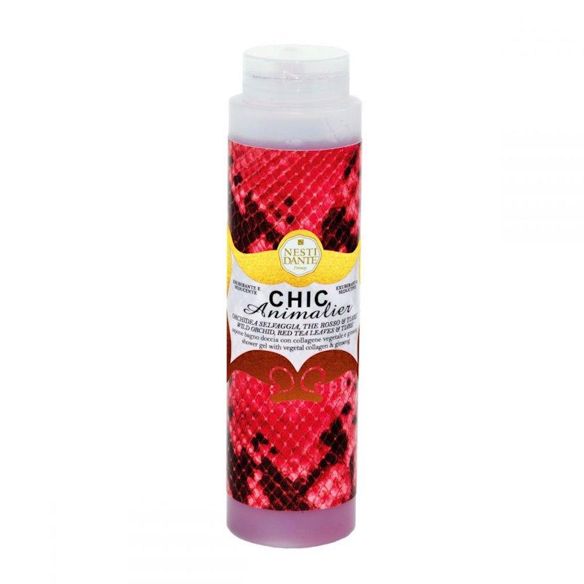 Gel duş üçün Nesti Dante Chic Animalier Red 300 ml