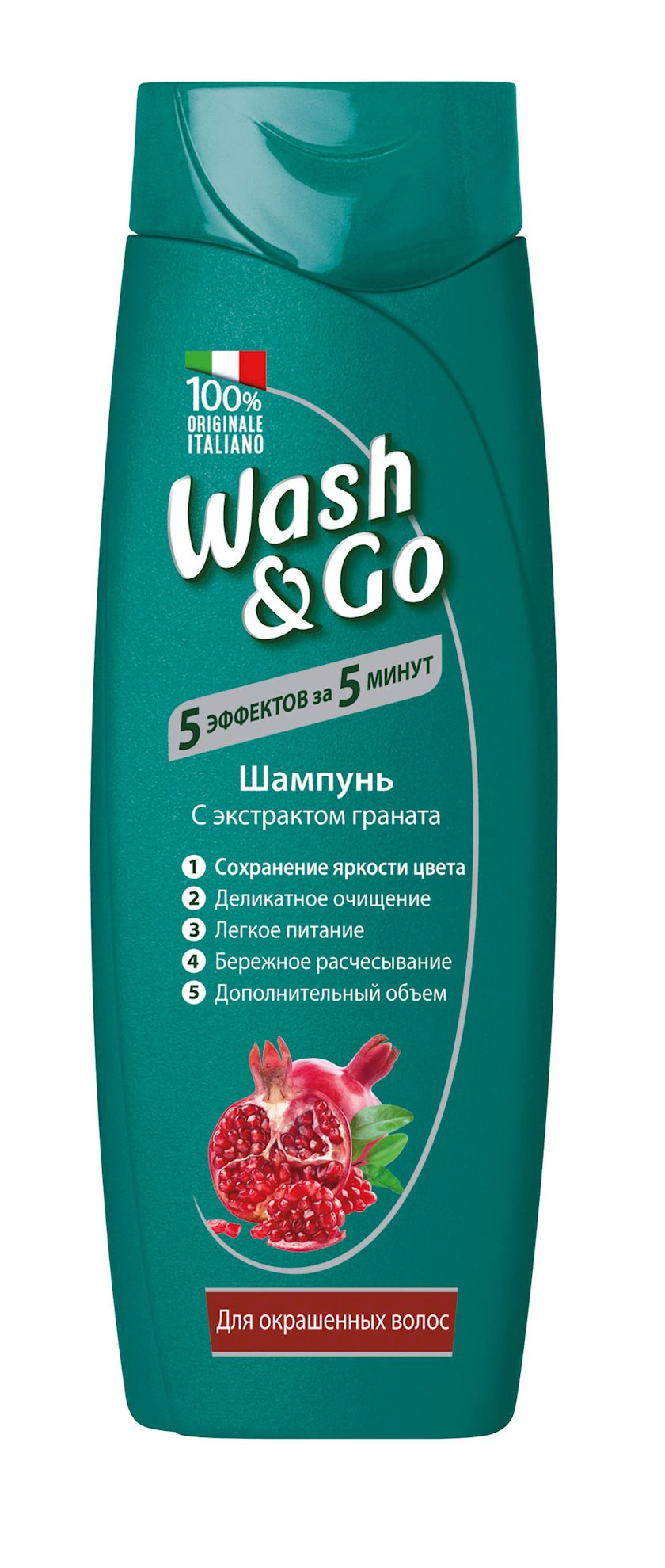 Şampun Wash&Go Pomegranate rənglənmiş saçlar üçün 400 ml