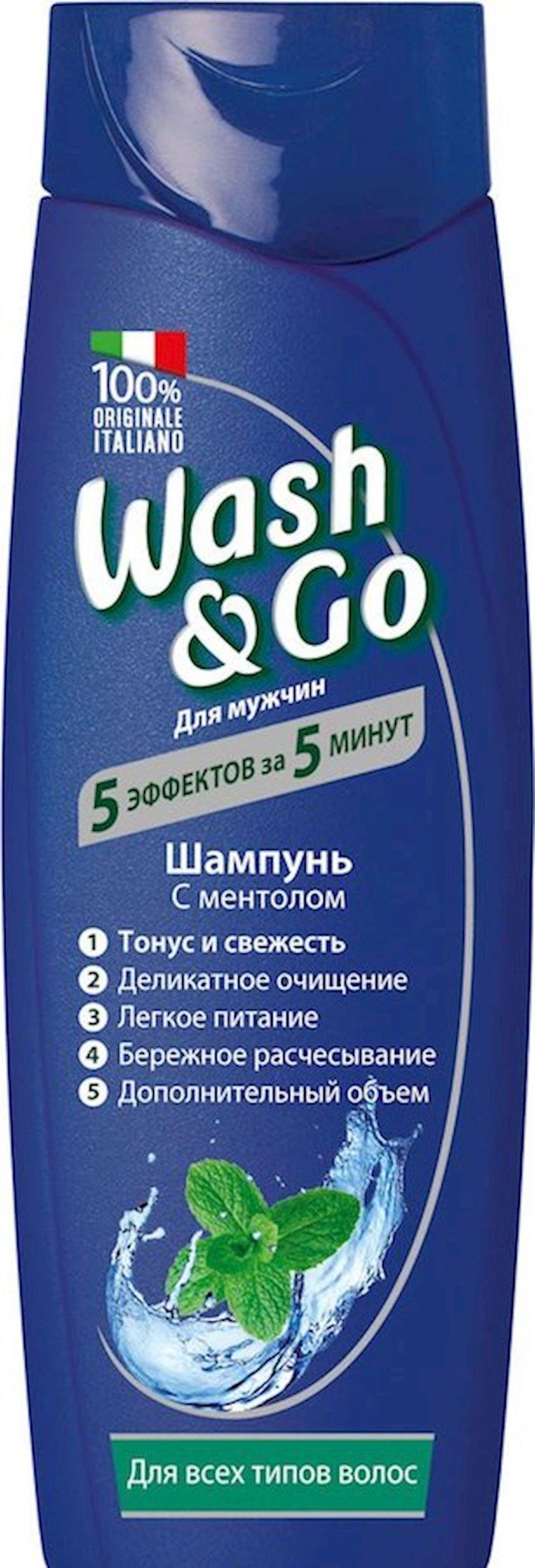 Şampun Wash&Go mentol ilə bütün saç növləri üçün 400 ml