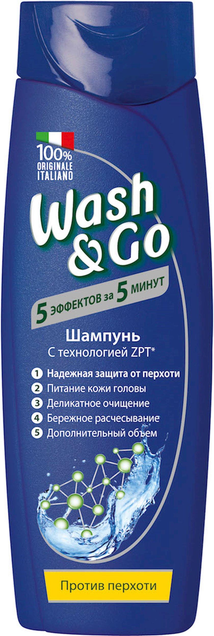 Şampun Wash&Go Antidundruff kəpəyə qarşı ZPT texnologiyası ilə 200 ml