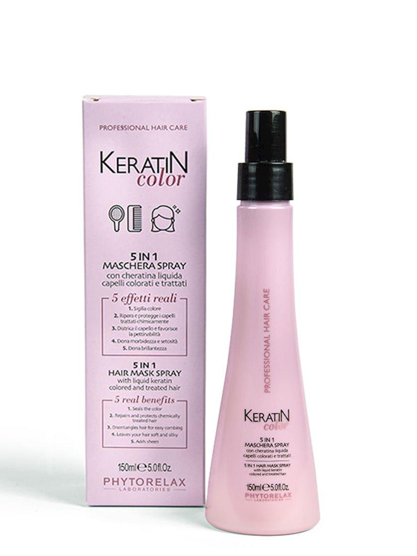Sprey-maska saç üçün Phytorelax Keratin Color 5 In 1, 150 ml