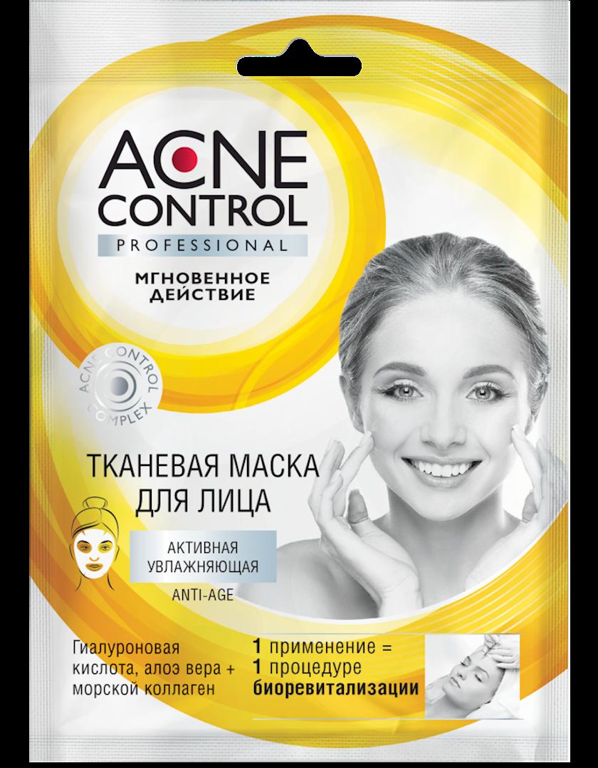 Üz üçün parça maska Фитокосметик Acne Control Professional Aktiv nəmləndirici 25 мл