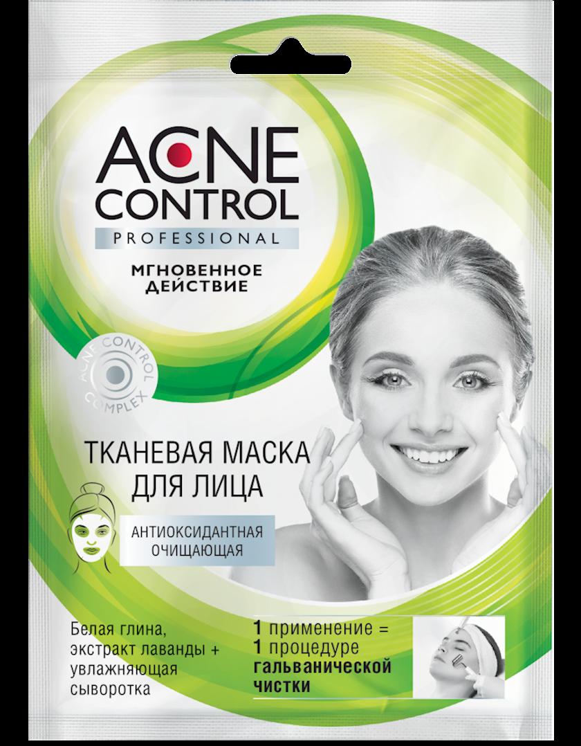 Üz üçün parça maska Фитокосметик Acne Control Professional Antioksidan təmizləyici 25 мл