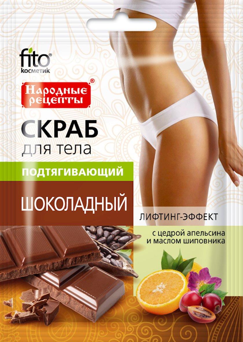 Skrab bədən üçün Фитокосметик Народные рецепты dartıcı şokoladlı 100 q