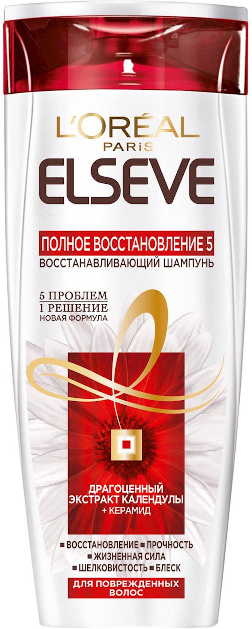 Şampun L'Oreal Paris Elseve Tam bərpa 5, zəif və ya zədələnmiş saçlar üçün 250 ml