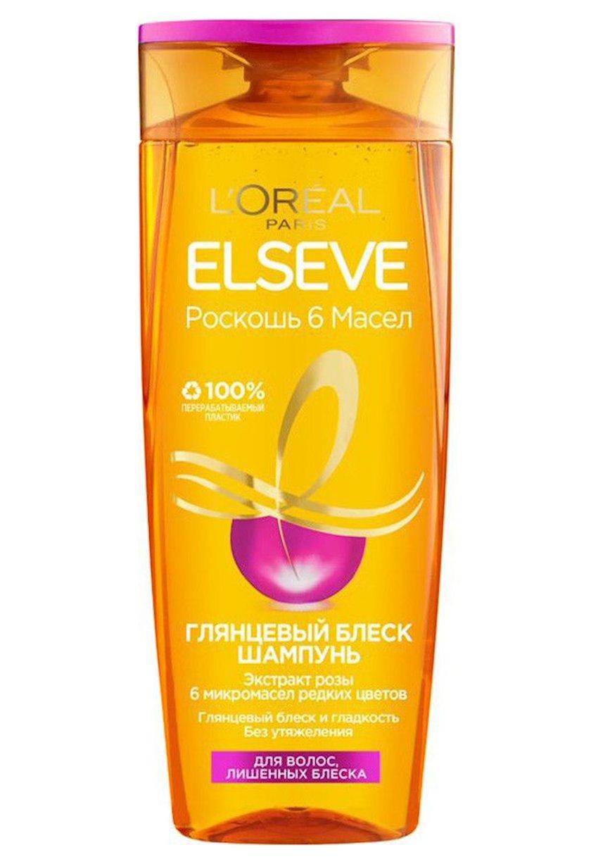 Şampun L'Oréal Paris Elseve 6 yağ dəbdəbəsi və Parlaq parıltı, 400 ml