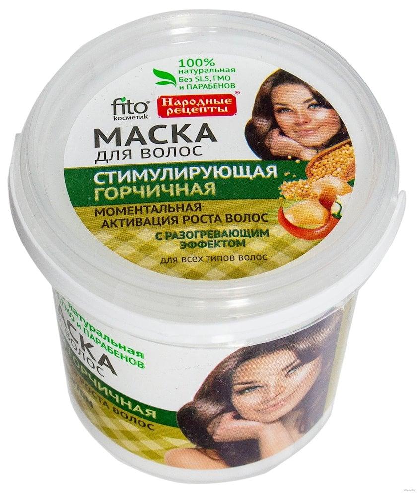 Saç maskası Фитокосметик Народные рецепты Stimullaşdırıcı xardal ilə 155 ml