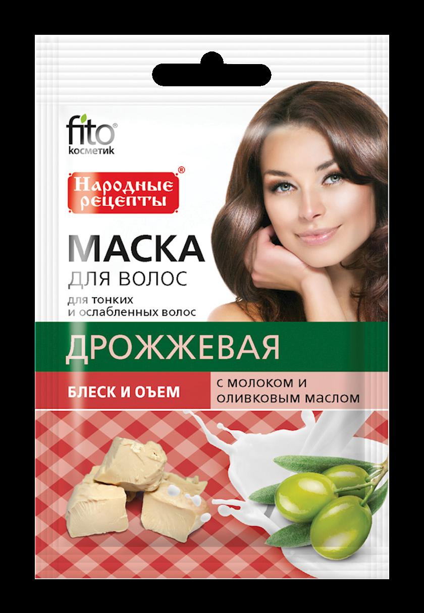 Saç maskası Фитокосметик Mayyalı, süd və zeytun yağı ilə 30 ml