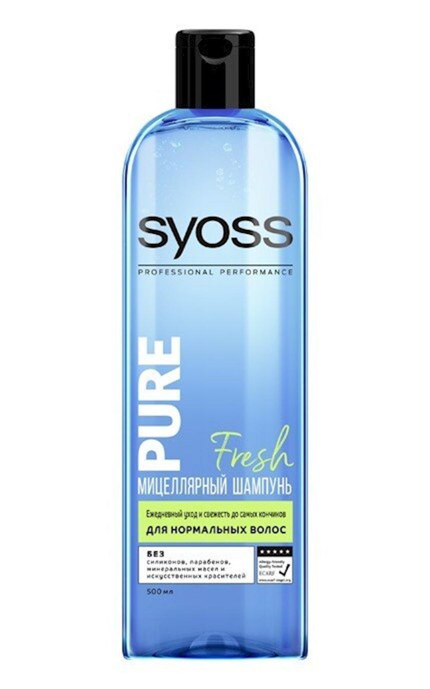 Şampun saç üçün Syoss Pure Fresh, normal saçlar üçün, 500 ml
