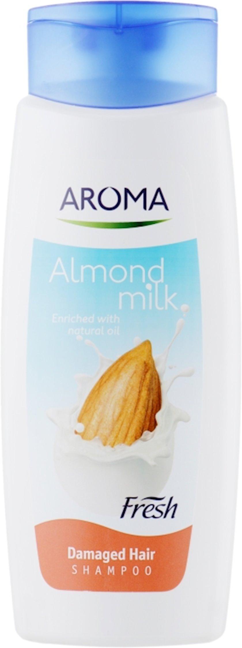 Şampun Aroma Fresh Almond Milk zədələnmiş saçlar üçün 400 ml
