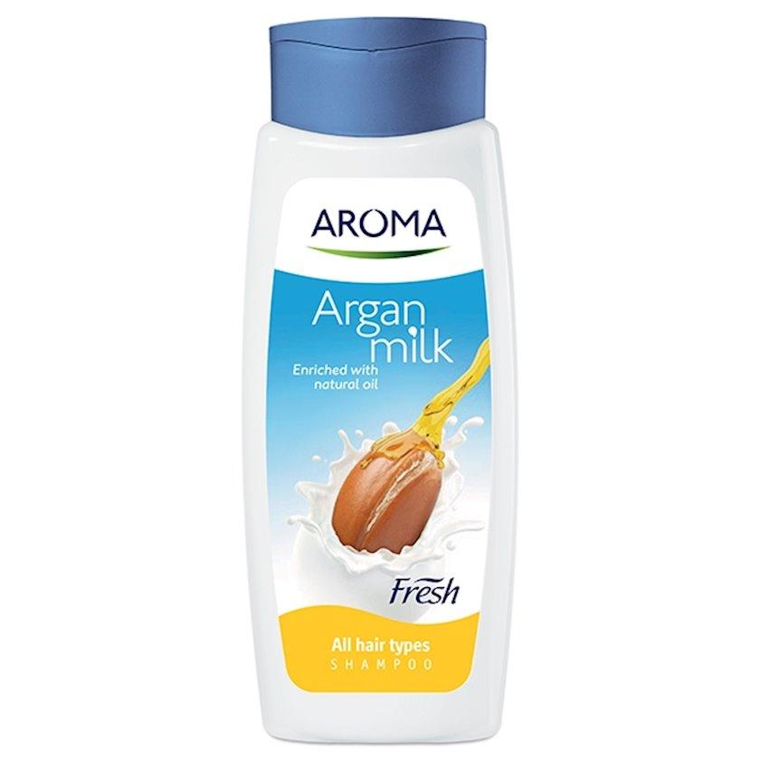 Şampun Aroma Fresh Milk&Argan bütün növ saçlar üçün 400 ml