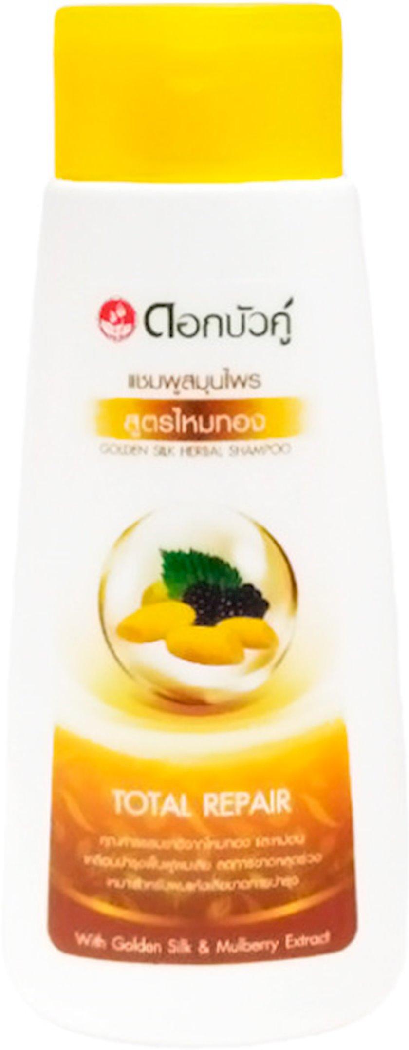 Şampun bitki tərkibli Twin Lotus Qızıl ipək tut ekstraktı ilə, 130 ml