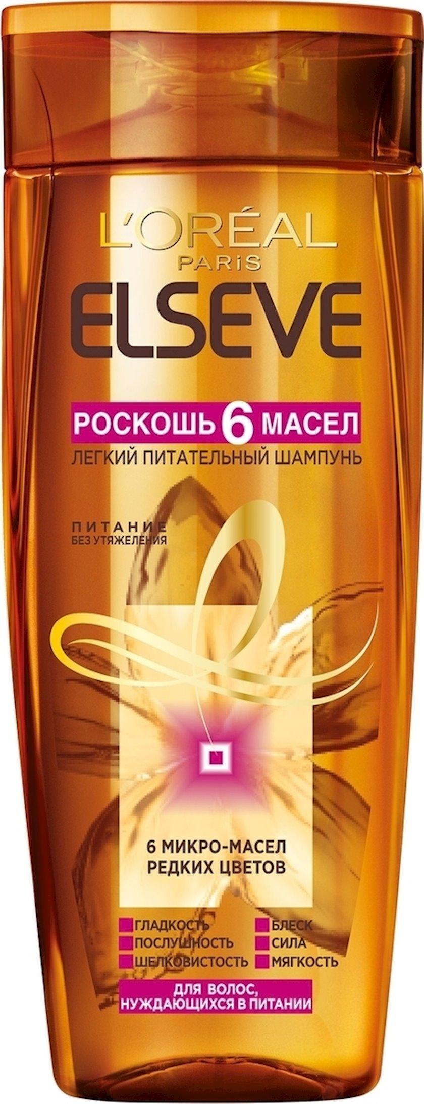 Şampun L'Oreal Paris Elseve 6 yağ dəbdəbəsi, qidalandırıcı, 250 ml