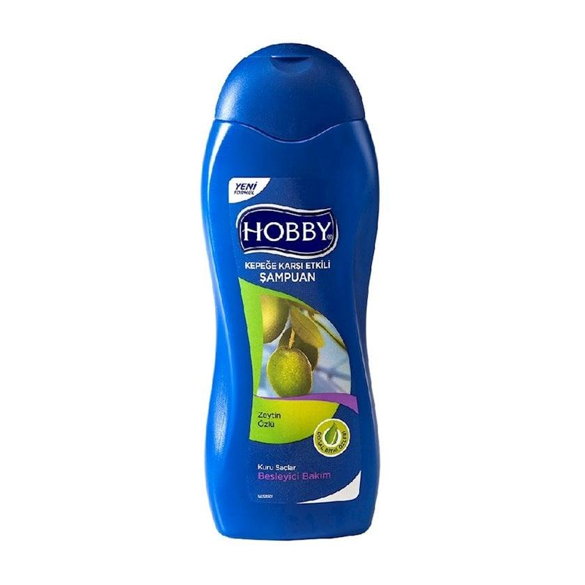 Şampun Hobby quru saçlar üçün kəpəyə qarşı zeytun 600 ml