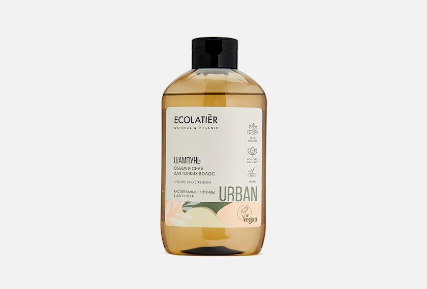 Şampun Ecolatier Həcm və güc Nazik saçlar üçün Bitki mənşəli proteinlər və aloe vera 600 ml