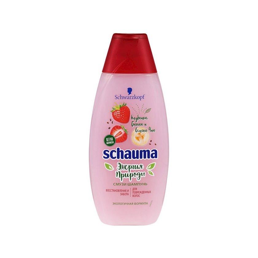 Şampun Schauma Təbiətin enerjisi smuzi çiyələk, banan, çia toxumları 400 ml