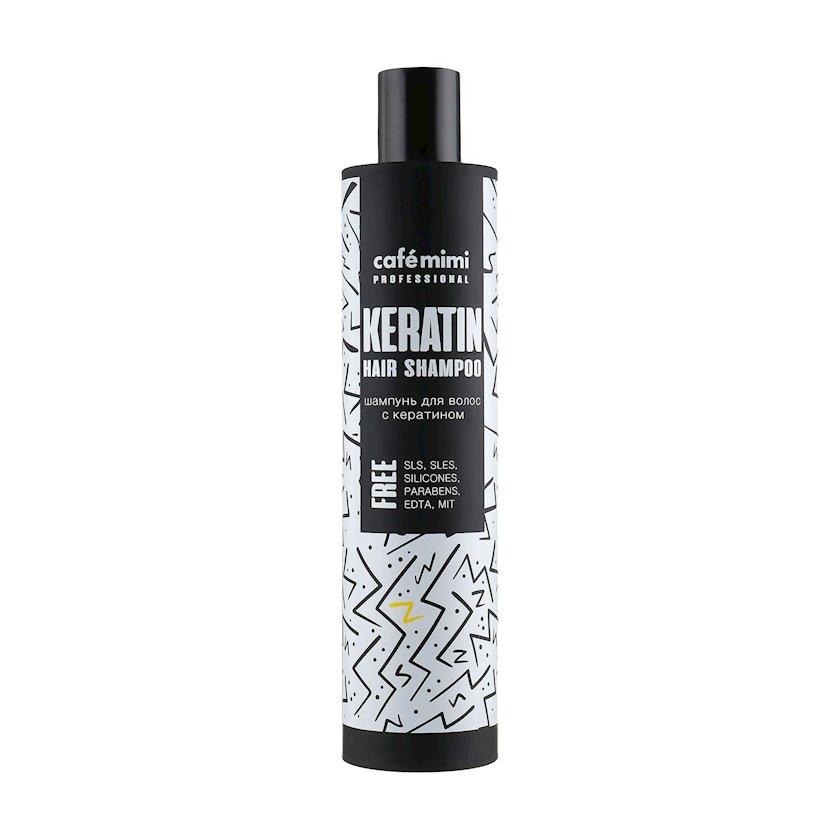 Saç şampunu Cafe Mimi Professional, keratin ilə 300 ml