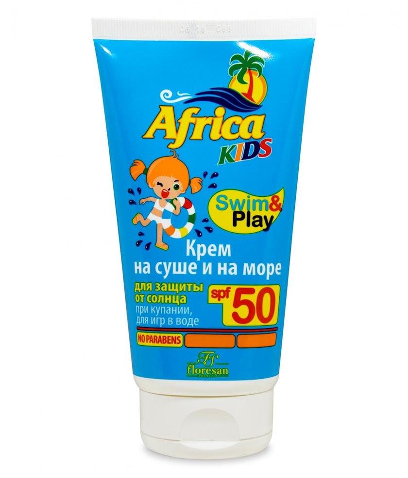 Günəşdən qoruyucu krem uşaqlar üçün Флоресан Africa Kids quruda və dənizdə, SPF50 150 ml