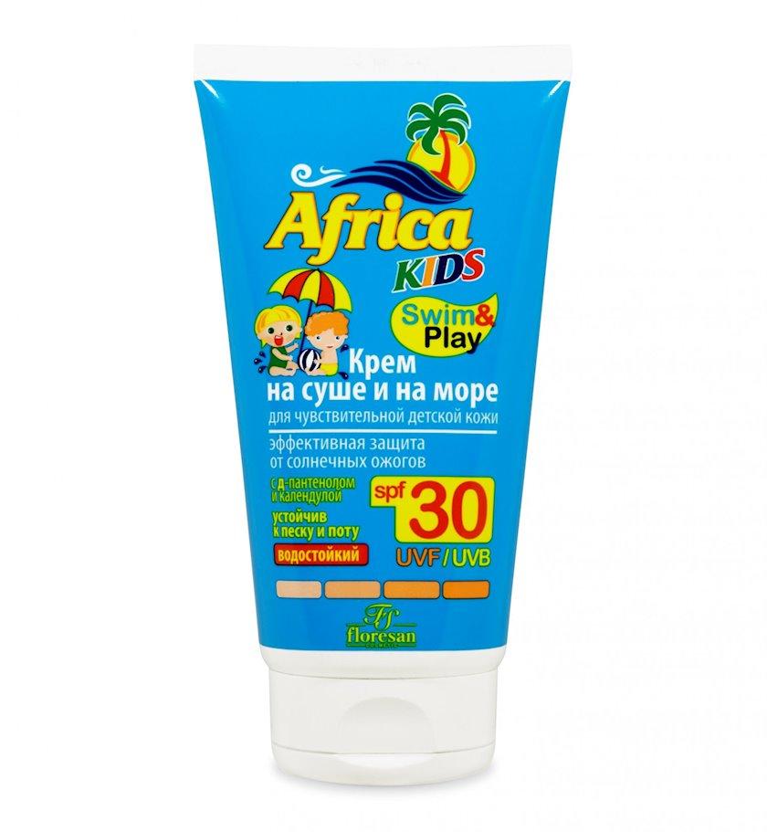 Günəşdən qoruyucu krem uşaqlar üçün Флоресан Africa Kids quruda və dənizdə, SPF30, suyadavamlı, 150 ml