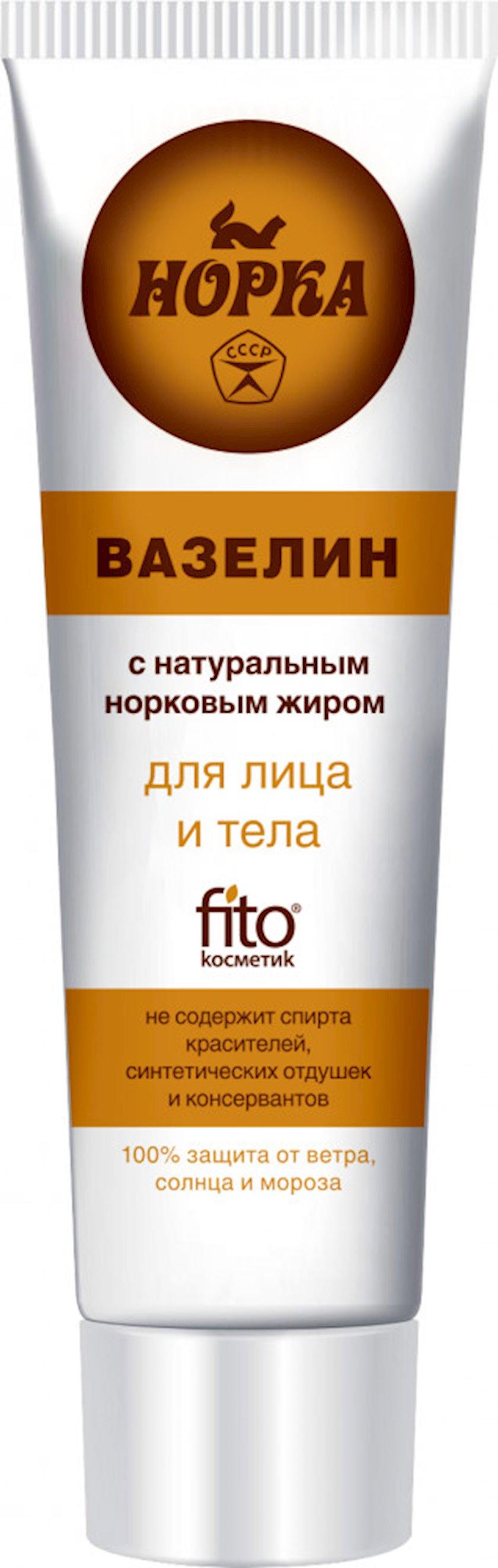 Vazelin-krem üz və bədən üçün Фитокосметик Норка su samuru yağı ilə 45 ml