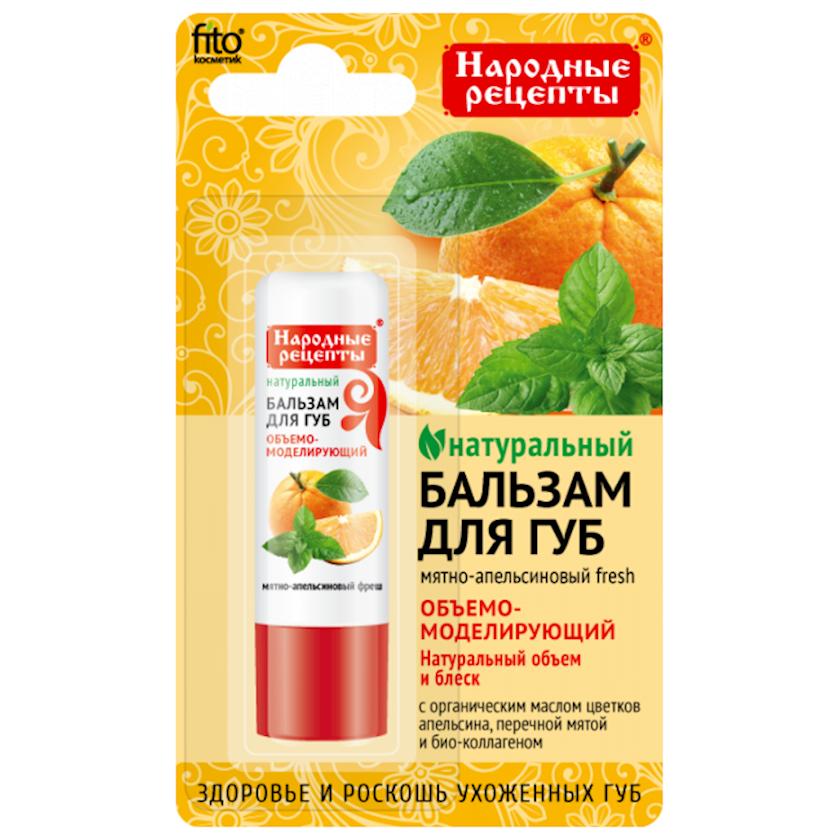Dodaq balzamı Фитокосметик Народные рецепты Nanə-portağal freşı 4.5 q