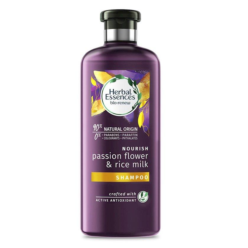 Şampun saç üçün Herbal Essences Ehtiras çiçəyi və düyü südü 400 ml