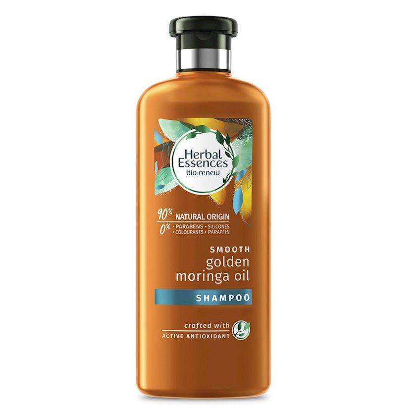 Şampun saç üçün Herbal Essences Morinqa yağı, parabensiz, süni boyasız, silikonsuz, parafinsiz 400 ml