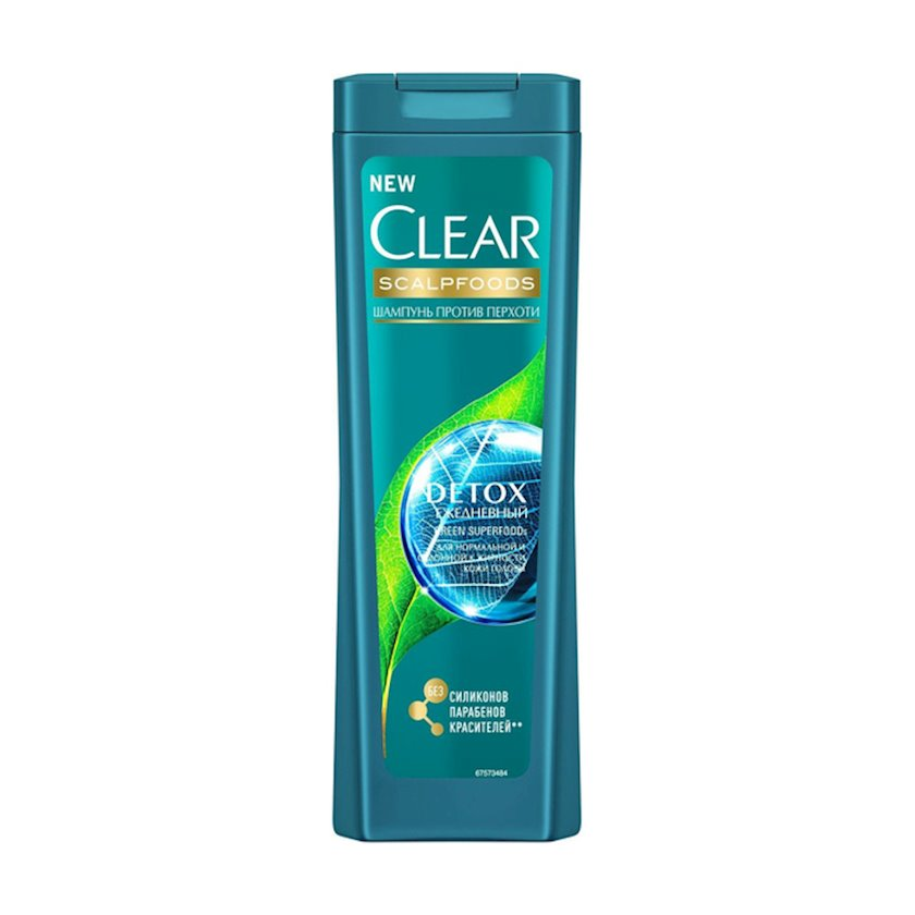 Şampun kəpəyə qarşı Clear Detoks Gündəlik 400 ml