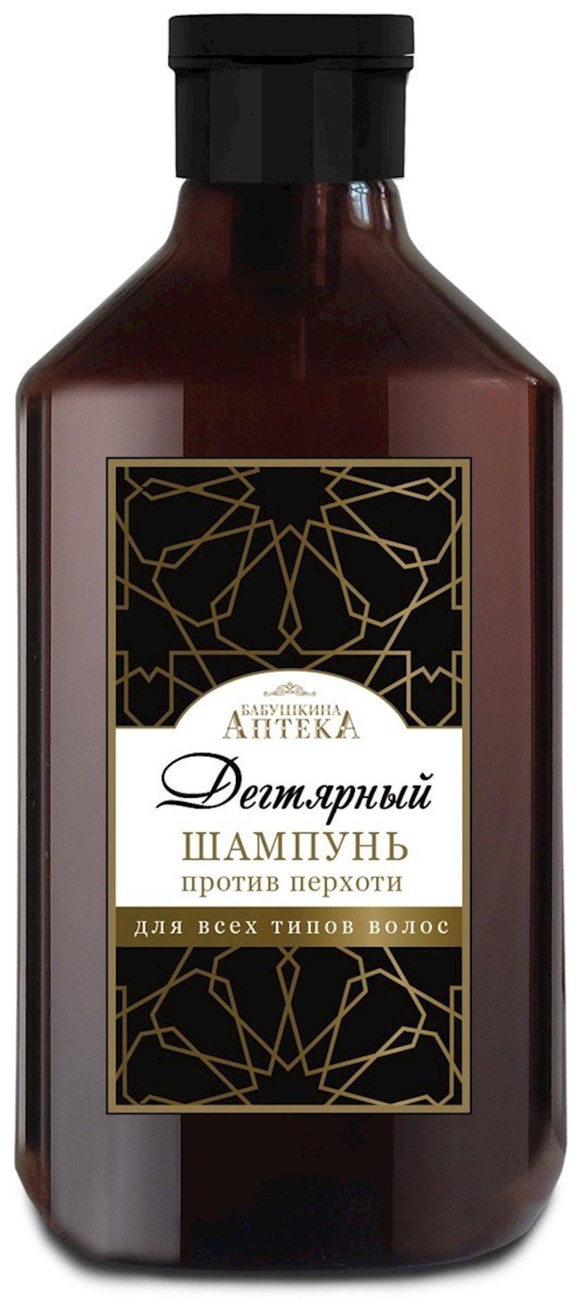 """Saç şampunu """"Бабушкина Аптека"""", kəpəyə qarşı qatran ilə 350 ml"""