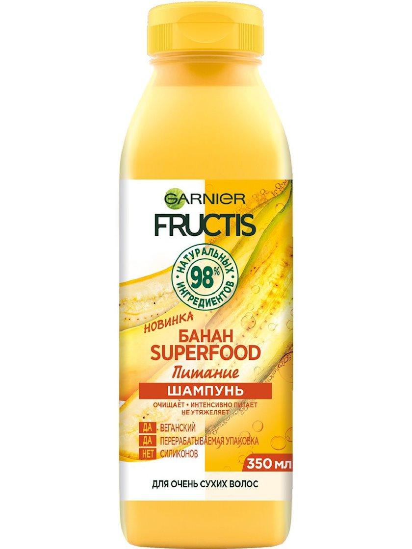 Şampun Garnier Fructis Superfood Banan Qidalandırma çox quru saçlar üçün 350 ml