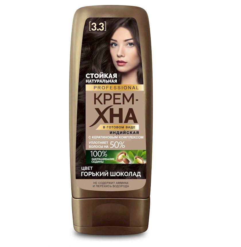 Krem-xına hazır şəkildə Фитокосметик Hind Professional Tünd Şokolad 140 ml
