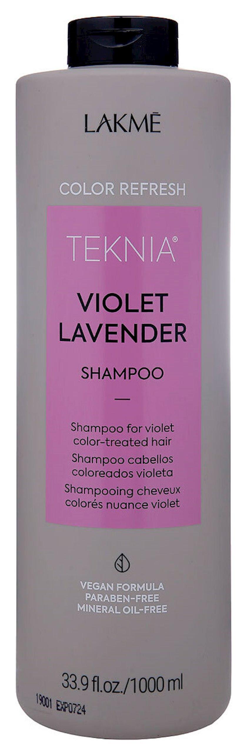 Rəngin yenilənməsi üçün şampun Lakme Teknia Color Refresh Violet Lavender Shampoo 1000 ml