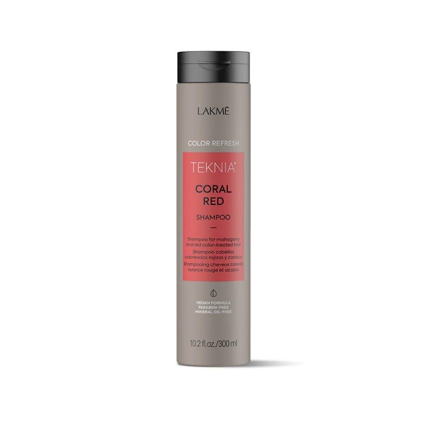 Rəngin yenilənməsi üçün şampun Lakme Teknia Color Refresh Coral Red Shampoo 300 ml