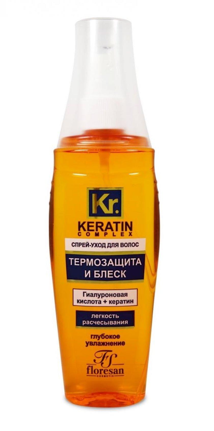 Saç qulluğu üçün sprey Флоресан Keratin Complex Termoqoruma və Parıltı 135 ml