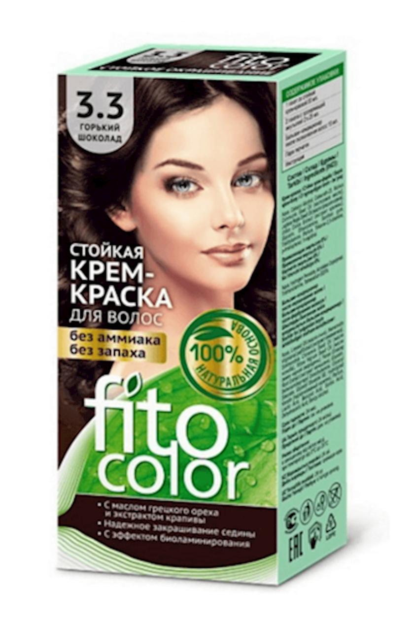 Saç üçün boya kremi Фитокосметик Fitocolor Acı şokolad 3.3 115 ml