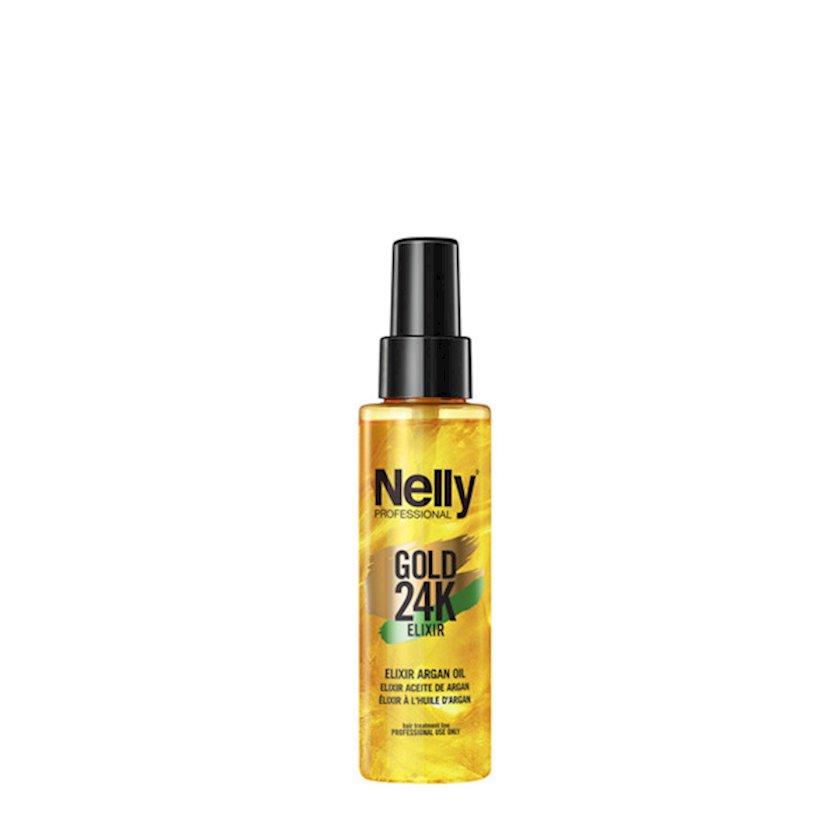Eliksir arqan yağı ilə Nelly Professional Gold 24K Elexir 100 ml