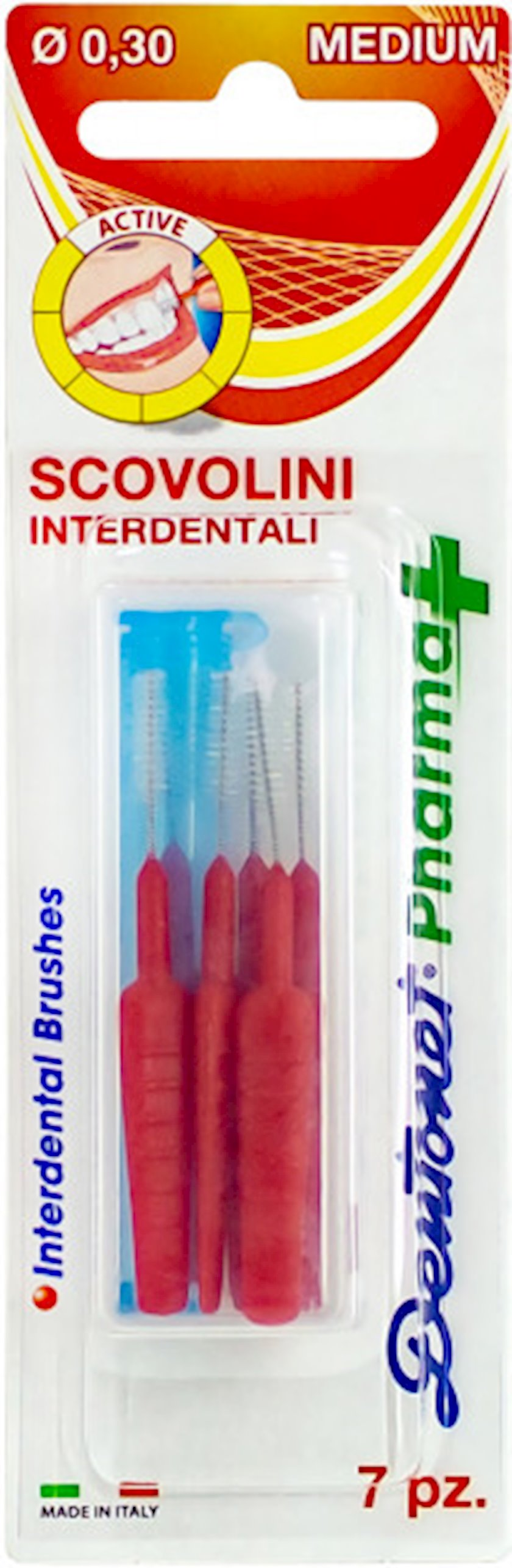 Dişarası fırçalar Silver Care Dentonet Pharma Medium 7 əd/0.30 mm