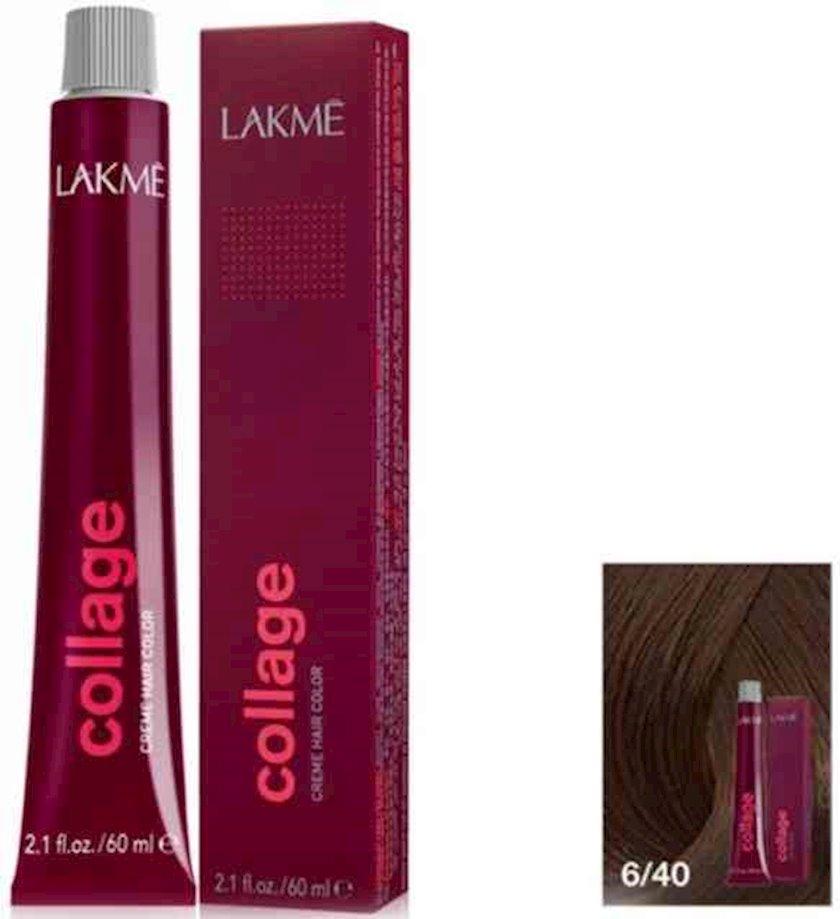 Krem boya saç üçün Lakme Collage Copper Dark Blonde 6/40 60 ml