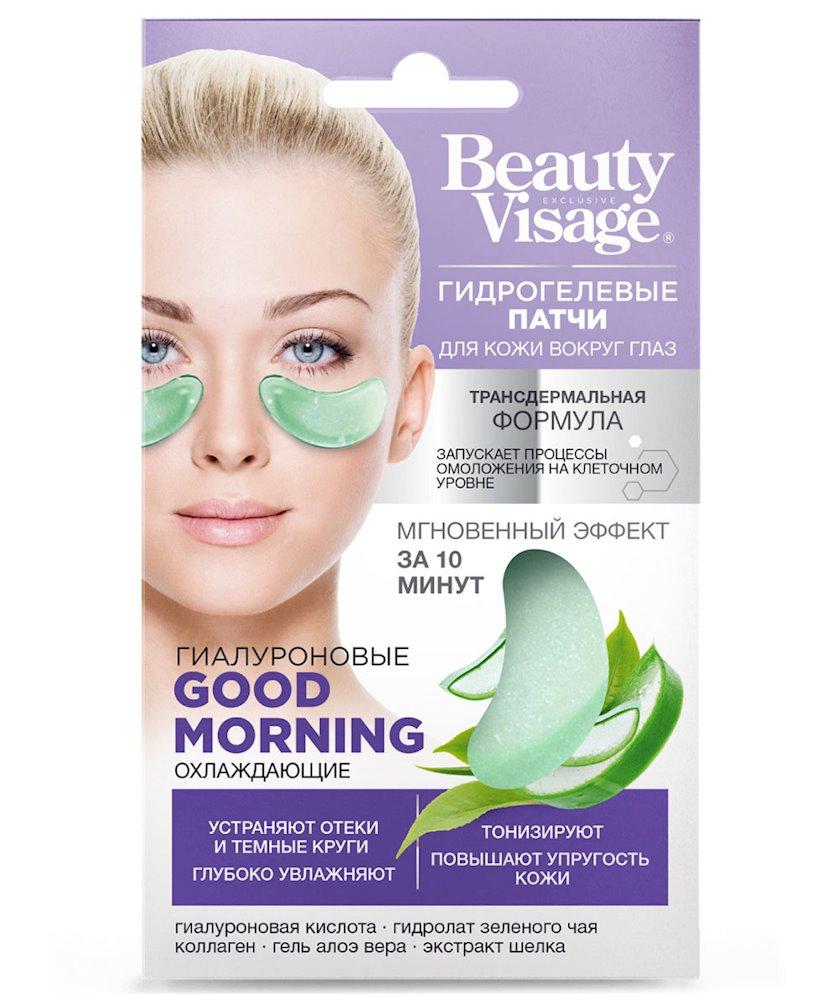 Gözaltı üçün hidrogel patçlar Фитокосметик Beauty Visage Good Morning Sərinləşdirici