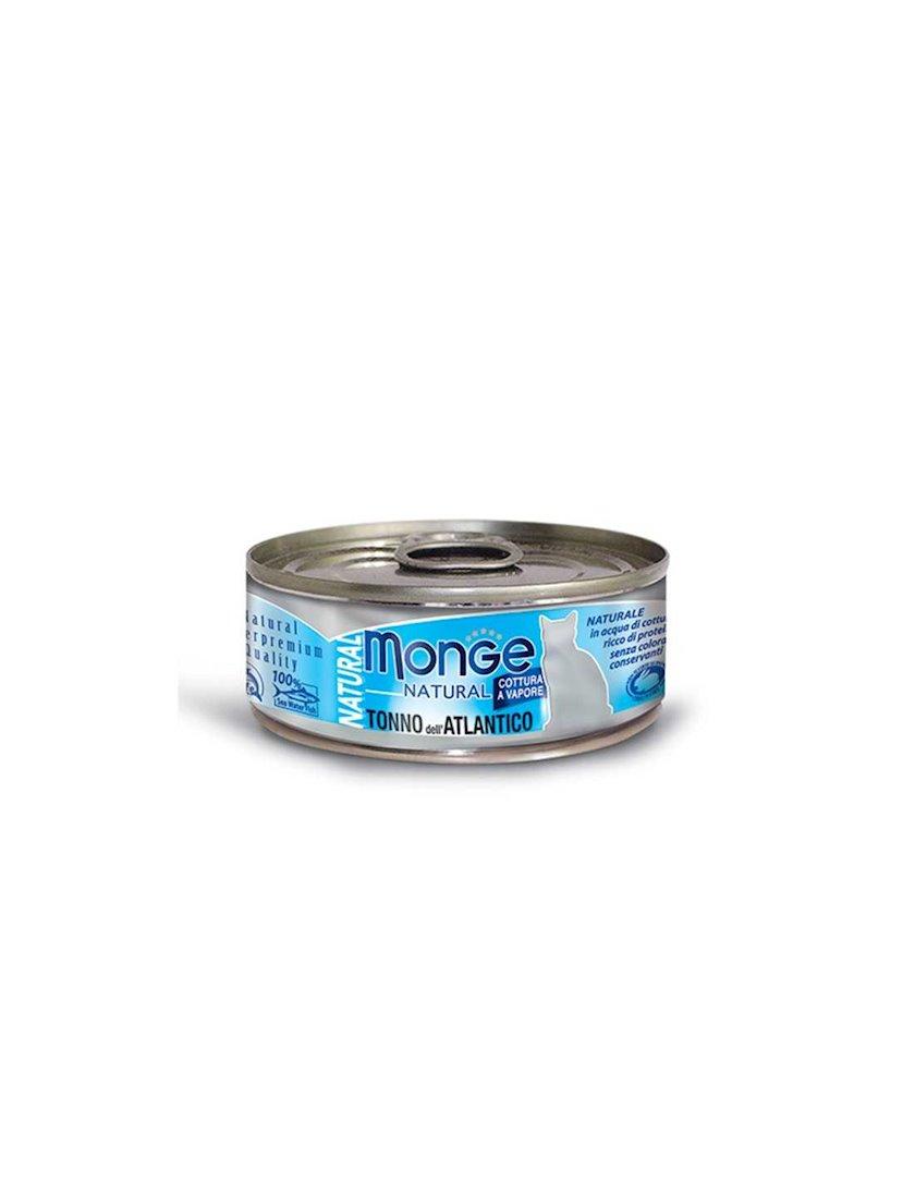 Paştet Monge Natural pişiklər üçün Atlantik ton balığı ilə 80 q