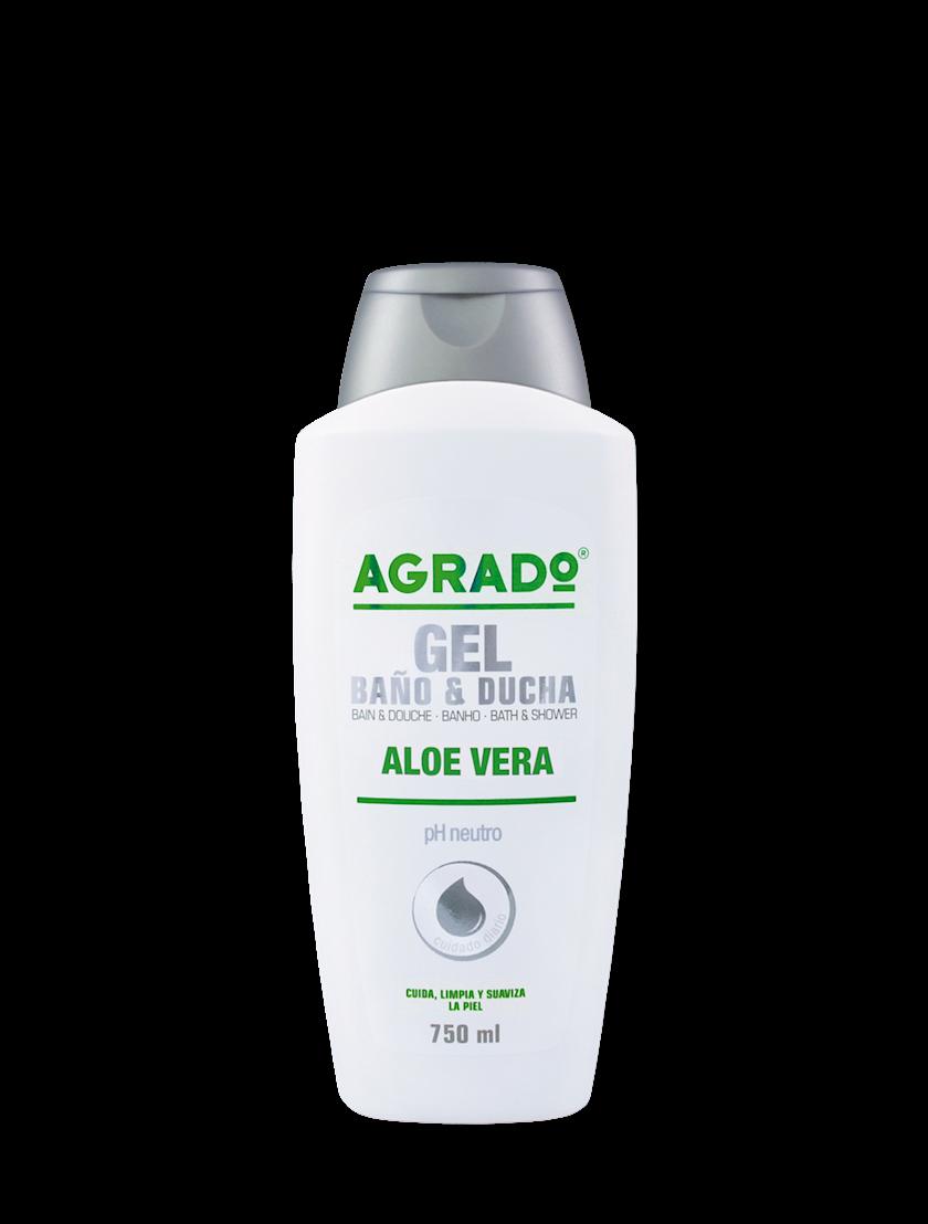 Düş və hamam üçün gel Agrado Aloe Vera 750 ml