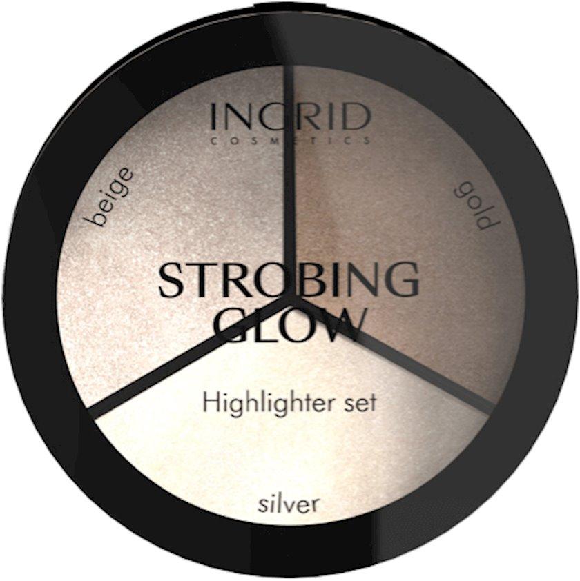 Haylayter paletkası Ingrid Strobing Glow Highlighter Set 15q