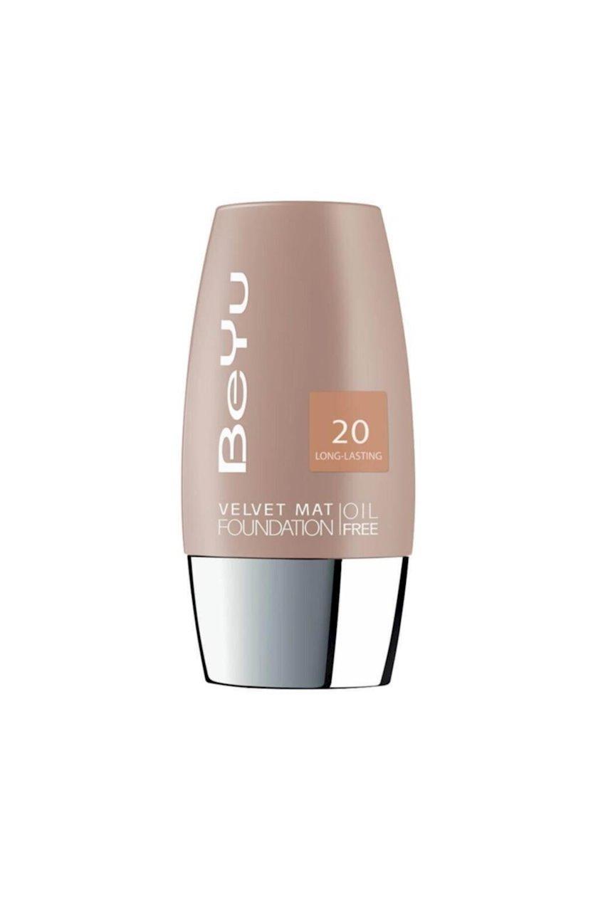 Tonal krem BeYu Oil Free Foundation Velvet Mat 20 Light Toffee, 30 ml