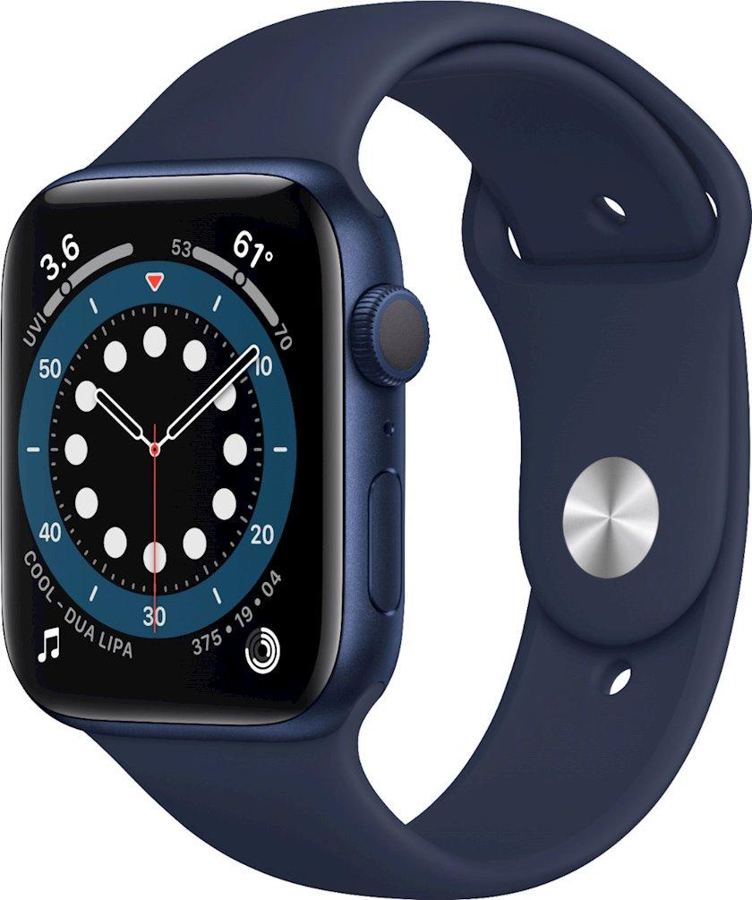 Smart saat Apple Watch Series 6 GPS, 44mm Blue Aluminum Case with Deep Navy Sport Band