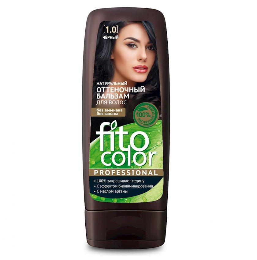 Çalar dəyişdirən balzam Фитокосметик Fito Color Professional 1.0 Qara 140 ml