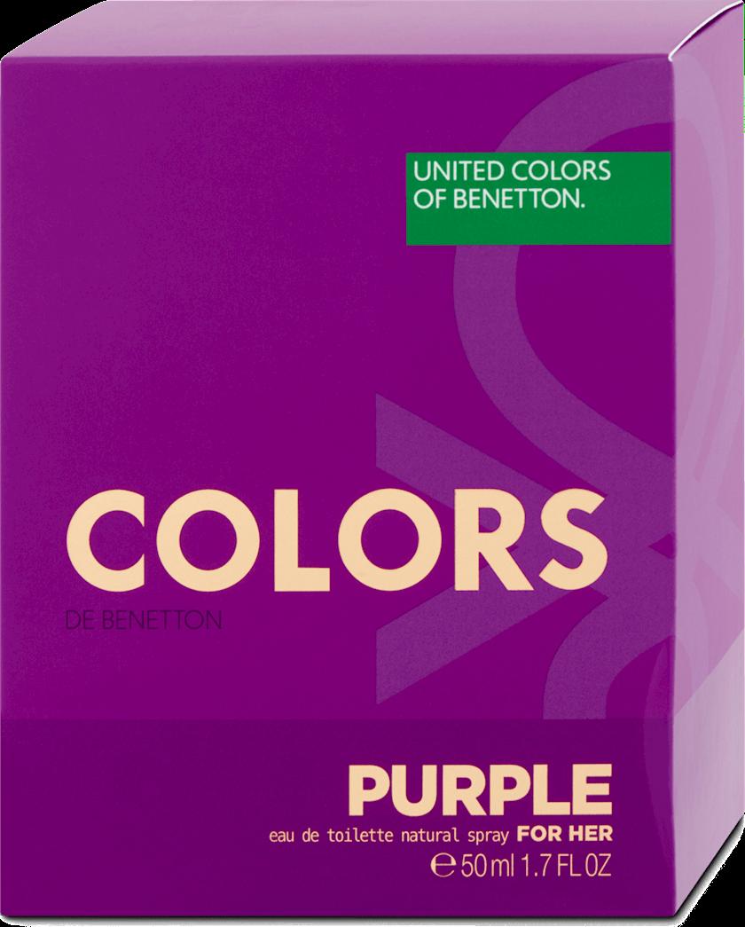 Qadınlar üçün tualet suyu United Colors of Benetton Purple Woman 50ml