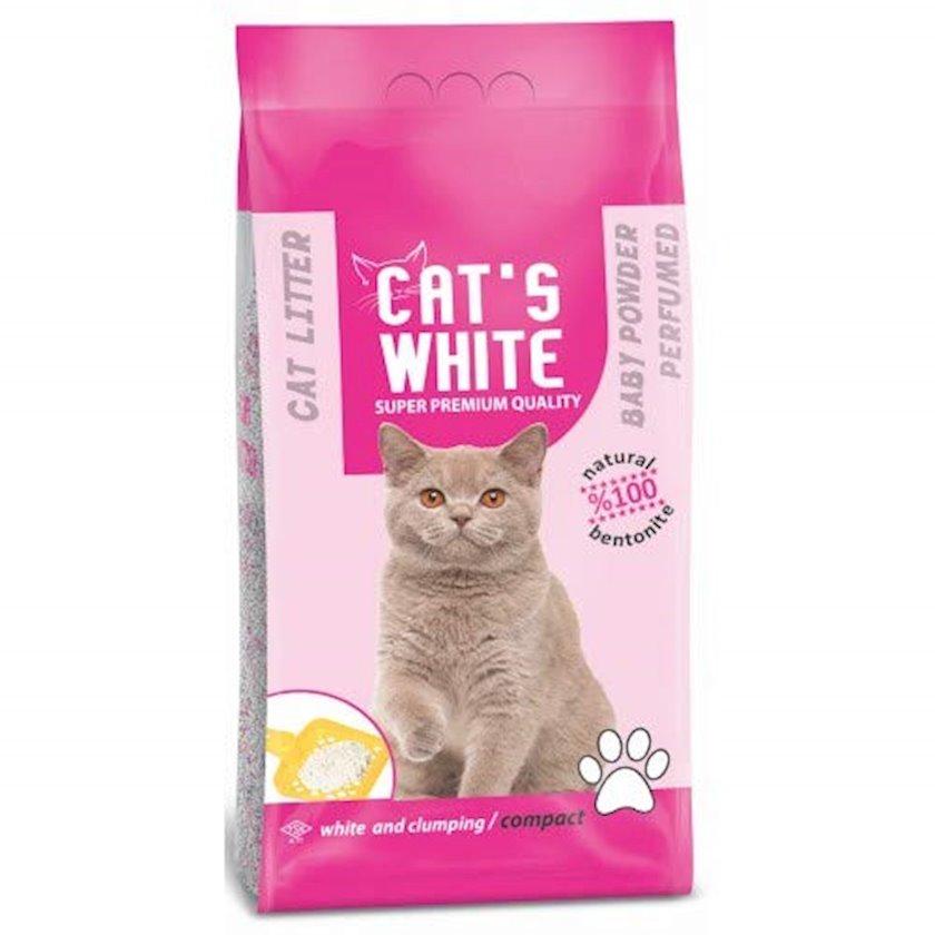 Topalaşan doldurucu pişiklər üçün Cat's White Uşaq pudrası ətri ilə 20 kq