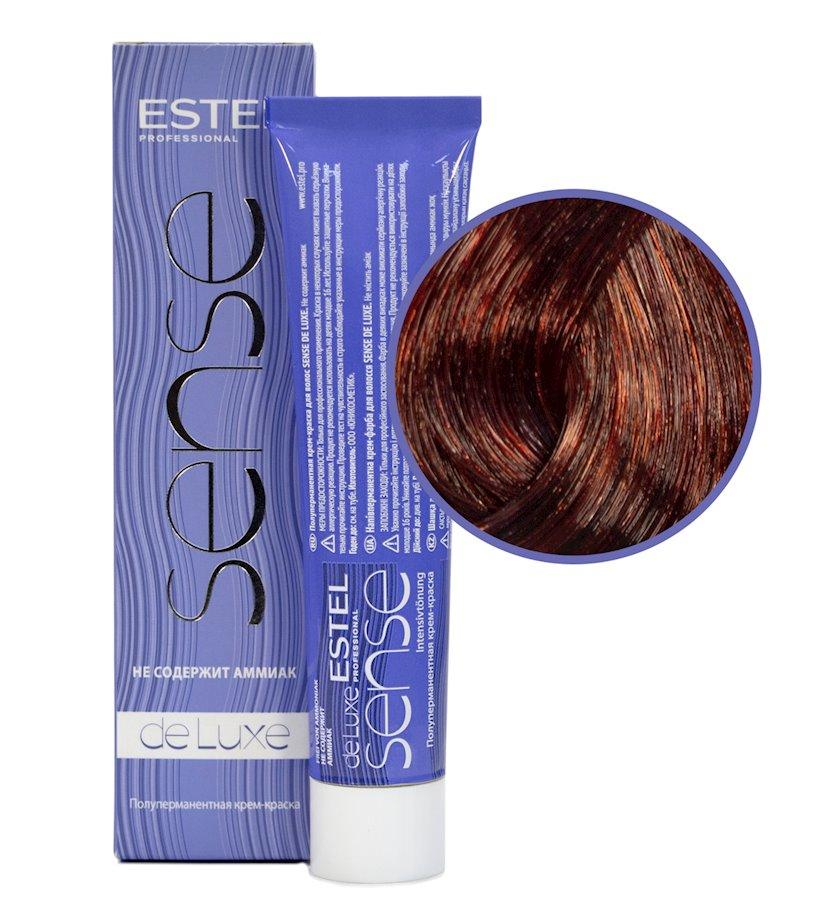 Saç üçün boya Estel De Luxe Sense 6/5 Tünd xurmayı qırmızı 60 ml