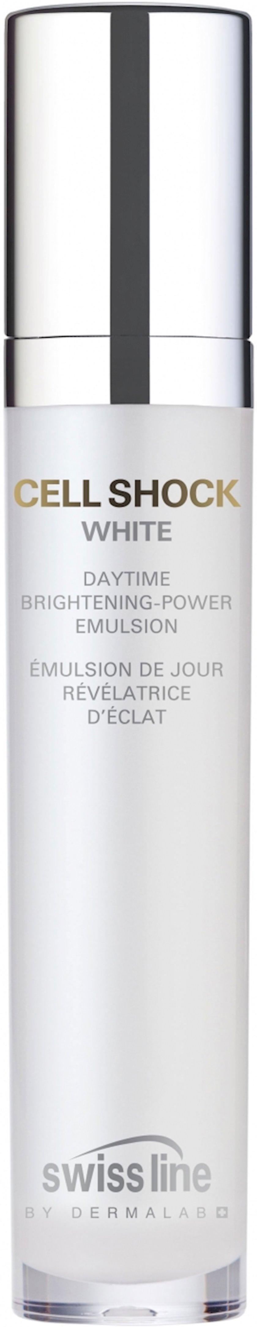 Ağardıcı gündüz emulsiyası Swissline Cell Shock White, 50 ml